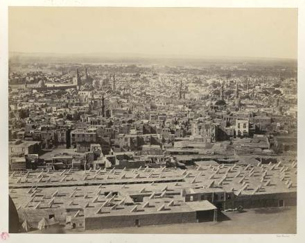 Francis Frith, Cairo from the citadel, with the mosque of the Sultan Hásan, photographie, bibliothèque de l'INHA, Pl E 6, f. 11. Cliché INHA
