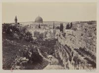 Francis Frith, City wall and mosque of Omar, &c., Jerusalem, photographie, bibliothèque de l'INHA, Fol Est 739, f. 21. Cliché INHA
