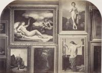 Pierre Ambroise Richebourg, [Hall des sculptures et cimaises du salon de 1861], 1861, photographie. Bibliothèque nationale de France, département Estampes et photographie, FOL-AD-1104
