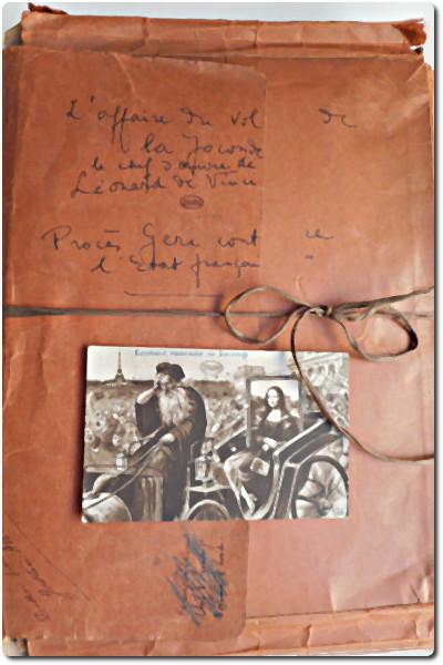 Ensemble de documents sur l'affaire du vol de la Joconde et le procès de M. Géri, antiquaire à Florence, BCMN Ms 604. Cliché INHA