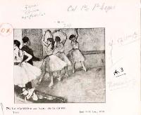 Exemplaire du catalogue de la vente de l'atelier d'Edgar Degas en 1918, annoté par Paul-André Lemoisne. Paris, Bibliothèque de l'Institut national d'histoire de l'art, collections Jacques Doucet, Archives 69. © INHA, photo Michael Quemener