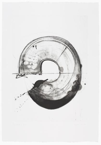 Takesada Matsutani, Cercle 16-3, eau-forte, 2016. Bibliothèque de l'Institut national d'histoire de l'art, EM MATSUTANI 85. Image courtesy the artist and Hauser & Wirth