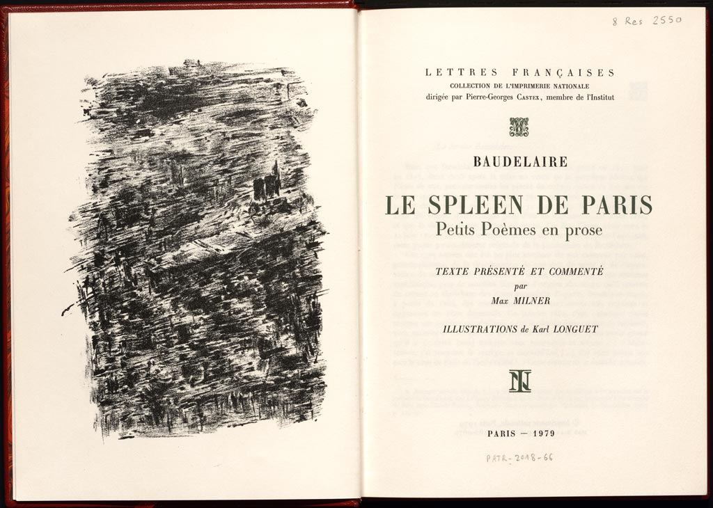 Le Spleen De Paris Illustré Par Karl Jean Longuet 1904 1981